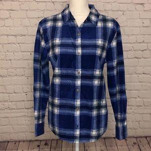 Lee Plaid Flannel Blue Shirt, sz M